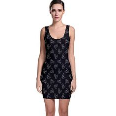 Jogja Dinosaur Doodle Seamless Pattern Bodycon Dress Black >>> You can get additional details at the image link.