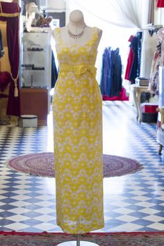 Cabaret Vintage - 1960s Floral Yellow and White Dress, $265.00 (http://www.cabaretvintage.com/dresses/1960s-floral-yellow-and-white-dress/)
