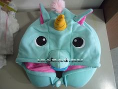 Кигуруми подушка для шеи синий Единорог