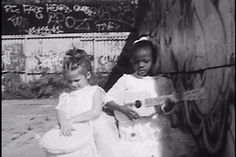 """Little Creatures Films: Spirit Lens. Sophia and Anastasia in a dream-like sequence . . . shot in """"The Yard,"""" adjacent to IKEA, in Red Hook, Brooklyn."""