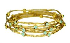 Seasonal Whispers Braided Wire Bracelet with Turquoise Stones
