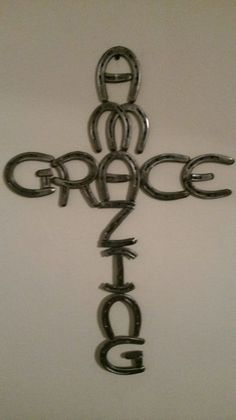 Amazing Grace cross made out of