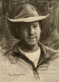 Scott Burdick: This is a charcoal of my friend, Charles Muench, the fantastic landscape painter and campfire philosopher.