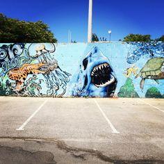 Sharks Murals By Me Pinterest Shark - Awesome mechanical shark mural phlegm