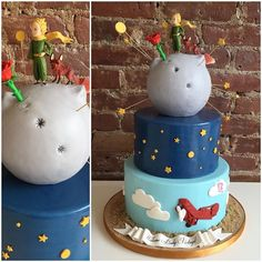 """""""The Little Prince"""" themed Baby Shower Cake! TAG someone who needs a Baby Shower Cake for a little Prince! #lepetitprince"""