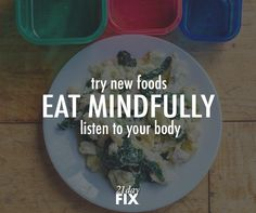 Every time you EAT it's an opportunity to nourish your body. Remember that