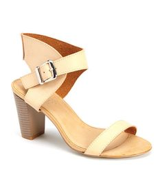 Look at this #zulilyfind! Beige Gosala Sandal #zulilyfinds