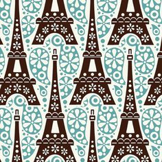 Eiffel Tower pattern --I would love this in a fabric, the link is dead, I wonder if it would be worth a try for Spoonflower? in black wood multiples of? Textiles, Textile Patterns, Textile Design, Fabric Design, Pretty Patterns, Beautiful Patterns, Cute Pattern, Pattern Art, Pattern Fabric