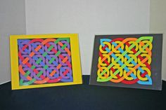 Easy paper crafts celtic design 12 circles two versions