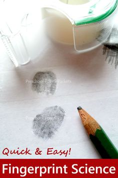 Awesome fingerprint STEM investigation for all ages! Uses tape, the best Christmas gift wrapping tool ever!! :D