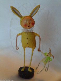 BUNNY SKIN - YELLOW by Lori Mitchell ~ Easter Spring ~ Collectible Figurine $23.95 plus shipping