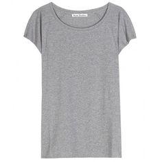 Acne Studios Narda Cotton T-Shirt (£80) ❤ liked on Polyvore