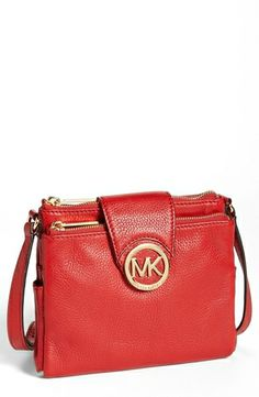 eb2fcf1c769c01 MICHAEL Michael Kors 'Fulton - Large' Crossbody Bag available at absolutely  love this! And I love the fall colors like this and burnt orange and  mustard ...