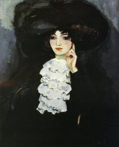 Kees van Dongen (1877-1968):  woman with frill