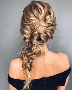Gorgeous Hairstyle Inspiration - updo wedding hairstyle , textured updo, messy updo, hairstyles #hair #hairstyles