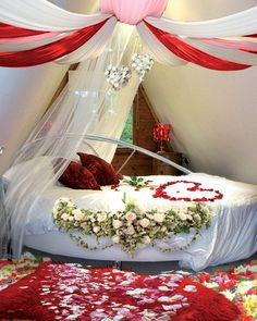 Romantic Wedding Night Bedroom Photo. (Note: link does not work).