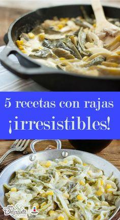 recetas de rajas | CocinaDelirante