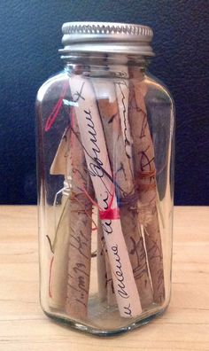 Not a notebook, but lovely way to preserve cherished stories. Asemic writing scrolls in a bottle. Dyed and stained papers and ink. From Rita McNamara at Salon de Refuse studio.
