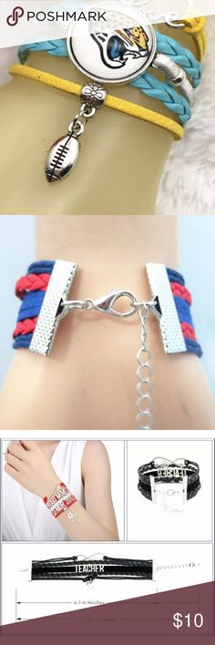 Jacksonville Jaguars Infinity Bracelet Brand new retail product. NFL football NFL Jewelry Bracelets