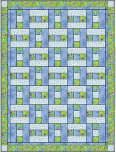 3 yard quilt, H blocks