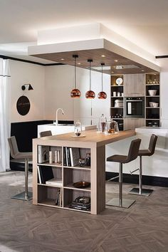 Best Kitchen countertops layout tips, Kitchen Ceiling Design, Kitchen Room Design, Modern Kitchen Design, Home Decor Kitchen, Interior Design Kitchen, Kitchen Furniture, Home Kitchens, Kitchen Layout, Open Kitchen And Living Room