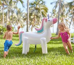 Shop sprinkler from Pottery Barn Kids. Find expertly crafted kids and baby furniture, decor and accessories, including a variety of sprinkler. Unicorn Sprinkler, Kids Sprinkler, Playroom Furniture, Kids Furniture, Furniture Dolly, Wooden Furniture, Outdoor Furniture, Field Day Games, Outdoor Toys For Kids