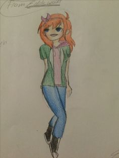 "Ye um this not at all my OC I've recently been watching Eddsworld and saw an episode with the characters as Females and said to my self ""I have to draw this"" so I did the Character is Matilda a Female version of Matt Drawn by Meranda Ann Lilly"