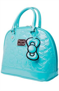 Hello Kitty Embossed Bag Turquoise