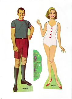 Bride and Groom Paper Dolls by Whitman 1968