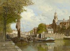 Johannes Christiaan Karel Klinkenberg (1852-1924) A view of Delfshaven in summer, oil on canvas. Collection Simonis & Buunk, The Netherlands