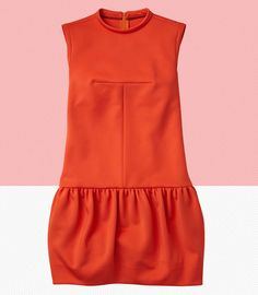 Joe Fresh tulip dress - such clean lines and a vibrant tangerine color! $69