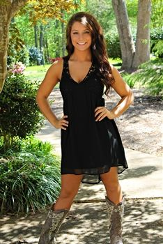 A Little Less Talk Dress in Black $36.99 #SouthernFriedChics