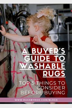 Buying an area rug that is machine washable is so important especially when you have kids and fur babies at home. But there are a few things to keep in mind when choosing the right washable rug for your home. To make things easier, we've compiled a list of 5 things that you should consider before you buy. Machine Washable Rugs, Buyers Guide, 5 Things, Kids Bedroom, Fur Babies, Area Rugs, Blog, Rugs, Blogging