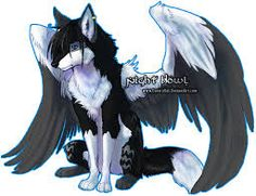 Image result for beautiful winged wolf