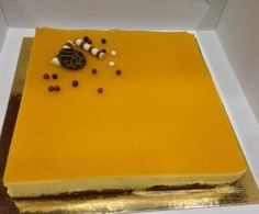 Bavarois mangue/passion chocolat