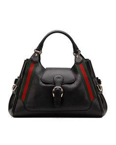 1b91bd33cac Gucci heritage medium shoulder bag black -  565  Designerhandbags