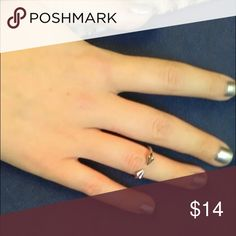 Trendy Ring Silver Plated Rivet ring 💍 for small finger. Size is about 5-6. Color: Silver Jewelry Rings