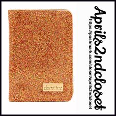 """Passport Wallet Glam Glitter 💟NEW WITH TAGS💟  Passport Wallet Card Case  * Allover laminated glam glitter exterior  * Clip interior slip pockets for passport  * Fabric lining  * Approx. 5.5"""" H x 4"""" W & 1"""" D  * Dust bag included  * Water resistant exterior Material: Synthetic exterior Color: Gold Glitter Item:92300  🚫No Trades🚫 ✅ Offers Considered*/Bundle Discounts✅ *Please use the 'offer' button to submit your best offer. Deux Lux Accessories Key & Card Holders"""