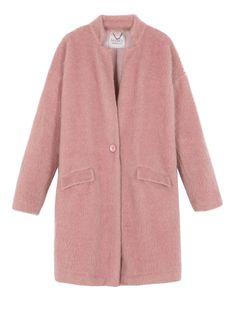 MAX&Co. CONTRADA old rose: Napped mohair-blend knit coat. SPEDIZIONI E RESI GRATUITI