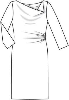 Платье - выкройка № 118 A из журнала 10/2012 Burda – выкройки платьев на Burdastyle.ru