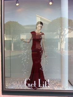 Window Display by Chad Morrisette with vintage Rootstein mannequin purchased from Mannequin Madness