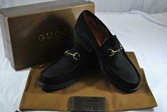 106dce5d09705 Gucci Men's Dress Shoes Size D 12 Moca Pelle S. Gomma Sport Suede - Nero # Gucci #LoafersSlipOns #Dress