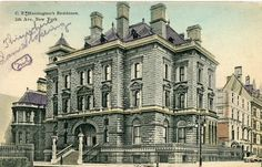 """The Gilded Age Era: The Collis P Huntington Residence, 5th Avenue.  The house once contained Rembrandt's """"Aristotle Contemplating a Bust of Homer""""."""