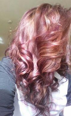 #hair #purple #red #blonde