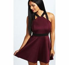boohoo Isabella Contrast Strap Skater Dress - berry Whether it's a prom dress, lantern dress or bodycon dress, an evening dress should take prime position in every wardrobe this season. From PU and lace, to floral and geometric prints, you'll be sure t http://www.comparestoreprices.co.uk/dresses/boohoo-isabella-contrast-strap-skater-dress--berry.asp