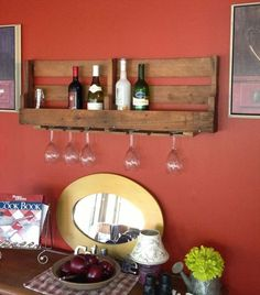 Recycled Pallets Furniture: A Way Forward - Pallet wine rack