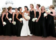 black and white wedding!