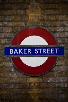 Baker Street, London another shout out to Holmes. England Uk, London England, U Bahn, London Transport, London Life, London Calling, Street Signs, British Isles, Sherlock Holmes