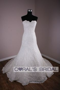 MS211(f) Custom made full lace Slim A line wedding dress
