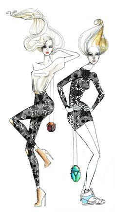 Sara Ligari Fashion Illustrations